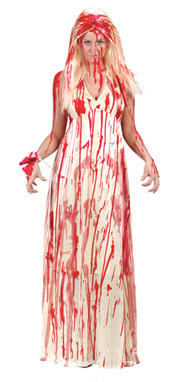 Halloween Costumes - Bloody Mary Costume and makeup