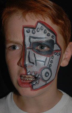 Top terminator robot drawing images for pinterest tattoos for Terminator face tattoo