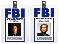 picture regarding Printable Fbi Badge identify Halloween Costumes - X-Data files Costumes - Mulder and Scully