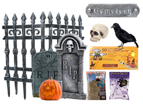 yes its actually possible to build a graveyard in a small space as a halloween display you can erect it in a corner or along a portion of a wall