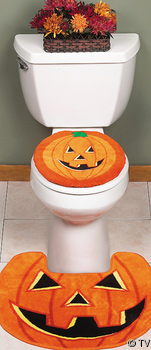 Jack O  Lantern Bathroom Decor Halloween Decorations For the