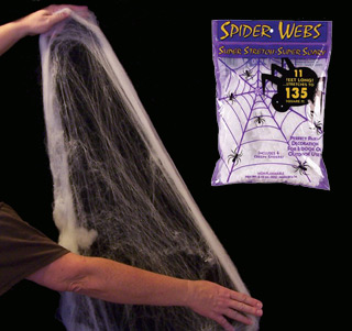 halloween decorations halloween stretchable spider web. Black Bedroom Furniture Sets. Home Design Ideas