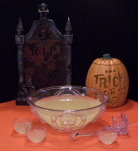 Glowing Severed-Hand Halloween Punch Recipe — Dishmaps