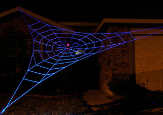 large halloween spider web